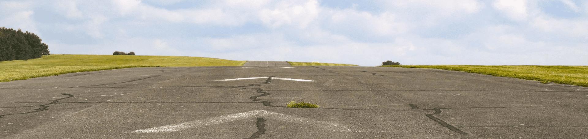 Das Flugfeld vom Flugplatz Feuerstein