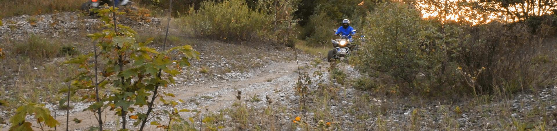 Die Offroadstrecke bei der Tour mit Michis Quadtouren