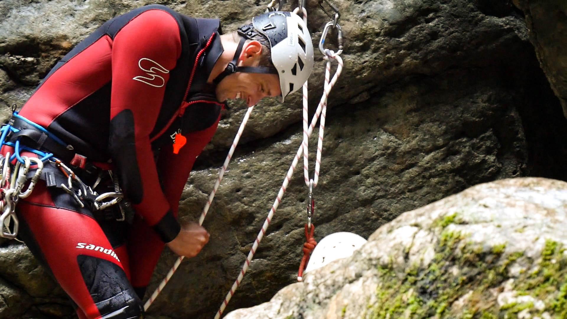 Der Schluchtenführer Danliel von Canyoning Erleben