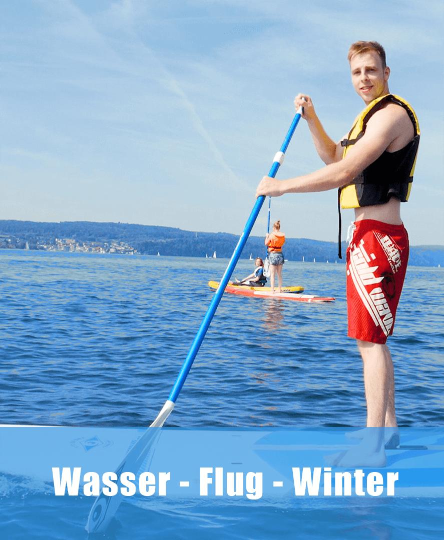 Erlebniskategorie Wasser, Flug und Winter