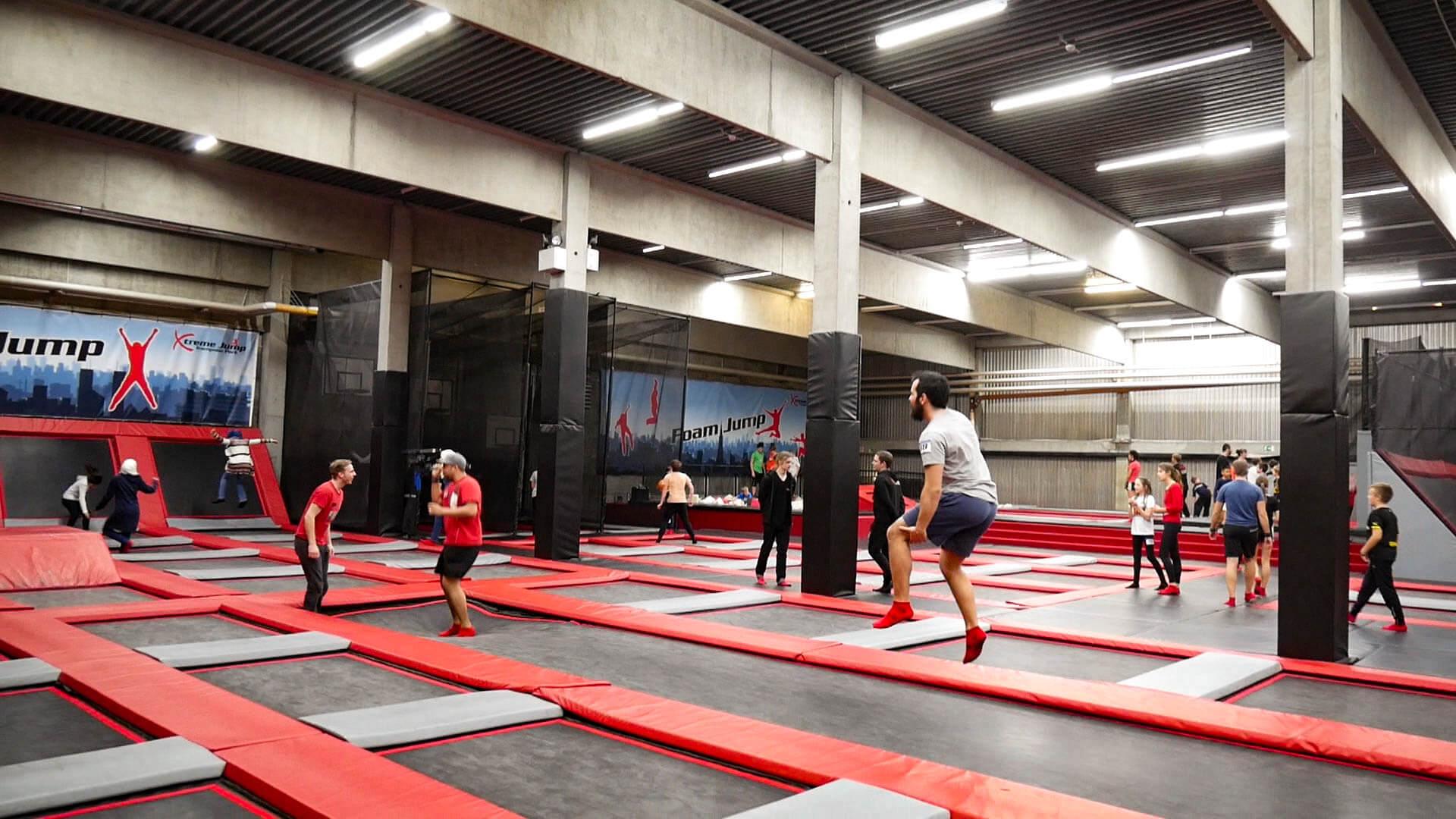 Die Trampolinhalle Jump4All in Ulm