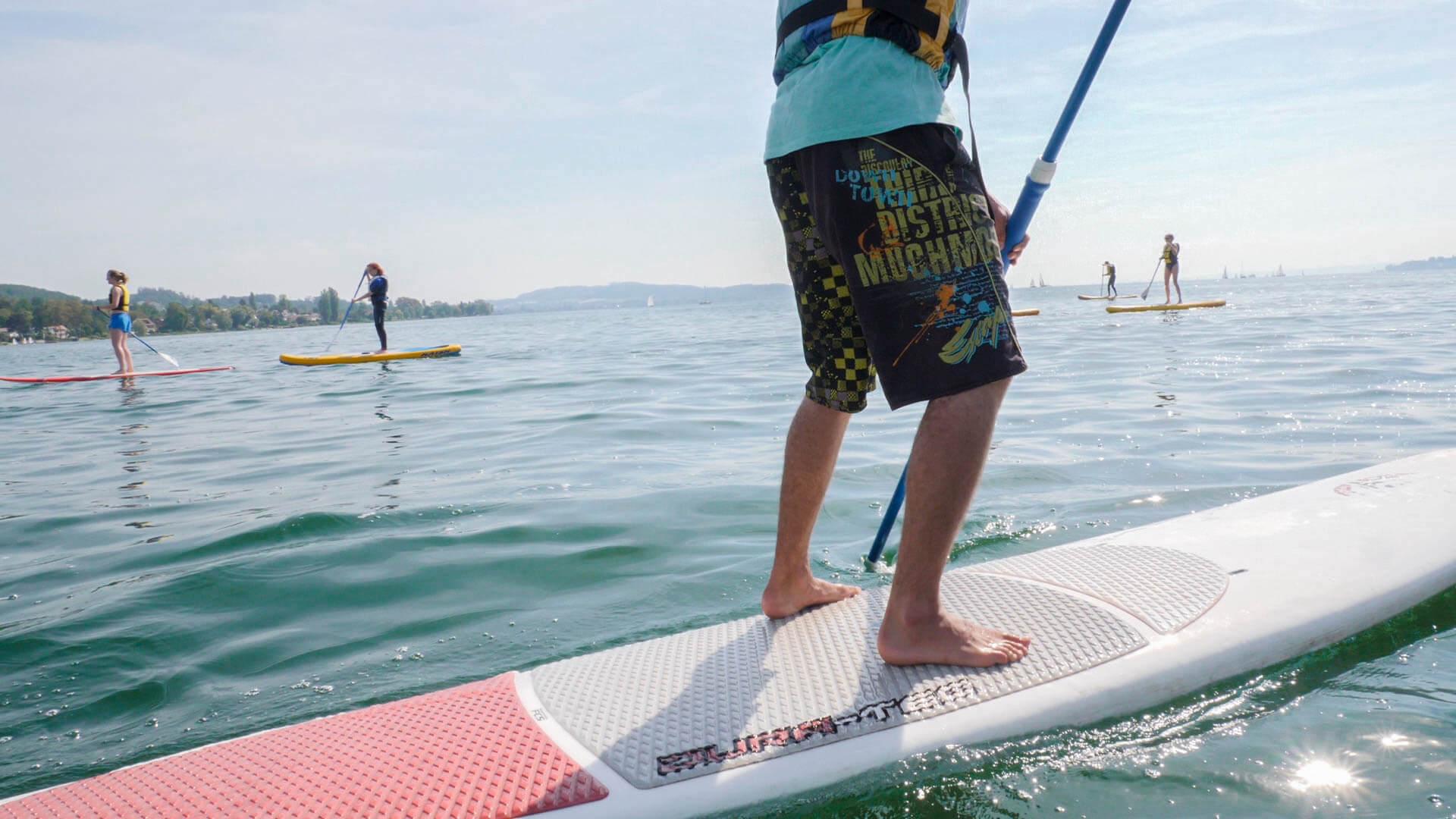 Stand Up Paddling auf dem Bodensee mit 3 weiteren Teilnehmern
